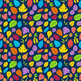 Pattern with leaves. Royalty Free Stock Photography