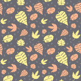 Pattern with leaves Stock Photo