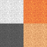 Pattern Lemon slices of orange on a colorful background Stock Images