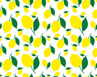 Pattern with lemons. Bright tropical background. The summer theme. Fresh design for printing Vector seamless ornament Stock Photo