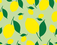 Pattern with lemons. Bright tropical background. The summer theme. Fresh design for printing Vector seamless ornament Royalty Free Stock Photography