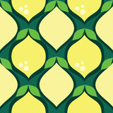 Pattern with lemons. Decorative seamless pattern with lemons royalty free illustration