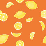 Pattern from lemons Royalty Free Stock Photo