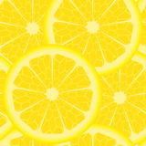 Pattern with lemons. Seamless pattern with sliced yellow lemons Royalty Free Stock Images
