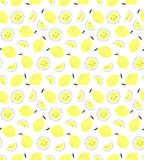Pattern with lemons. Vector seamless background. Stock Photography