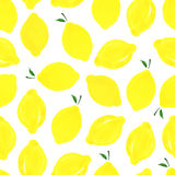Pattern with lemons. Royalty Free Stock Photos