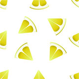 The pattern of lemons on a white background. Royalty Free Stock Image