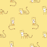 Pattern with leopards. royalty free illustration