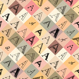 Pattern of the letter a in different styles. Stock Photo