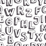 Pattern letters Stock Photo