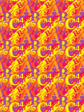 Pattern with letters and numbers Stock Photo