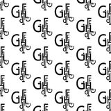 Pattern of letters and symbols Stock Photos