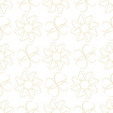 Pattern of light beige leaves or hearts on white background Royalty Free Stock Images