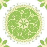 Pattern in a light green circle for textile design stock illustration