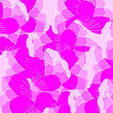 Pattern with lilac blossoms Royalty Free Stock Photo