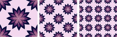 Pattern with lilac flowers vector illustration