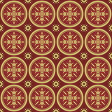 Pattern with lilies in the classical style Royalty Free Stock Image