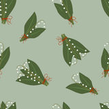 Pattern lilies of the valley Stock Images