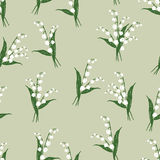 Pattern of the lilies of valley Royalty Free Stock Photo