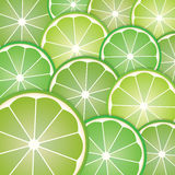 Pattern limes slices Royalty Free Stock Photo