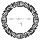 Pattern line ancient meander Royalty Free Stock Photo