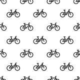 Pattern with line bikes Stock Photo