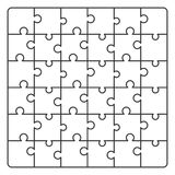 Pattern line Puzzle. Vector illustration for background design Royalty Free Stock Photography