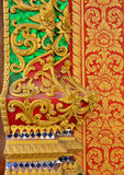 Pattern line thai lanna and mural Royalty Free Stock Image