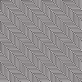 Pattern with line black and white in zigzag Stock Images