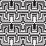 Pattern with line black and white in zigzag Royalty Free Stock Images