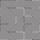 Pattern with line black and white in zigzag Stock Image