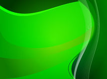 Pattern of linear waves on a green background Stock Image