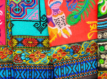 Pattern of Local Colorful Clothes. Luangprabang Laos Royalty Free Stock Photos