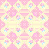 Pattern Lollipop Geometry Pastel Theme. Cute lollipop seamless design geometry pattern in pink theme Vector Illustration