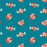 Pattern with lollipops Stock Image