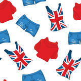 Pattern Of Londen Color Clothes Stock Image