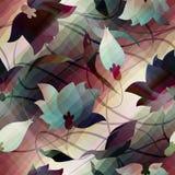 Pattern of lotus flowers Stock Image