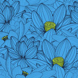 Pattern with lotus. Seamless pattern with lotus, hand draw  illustration Royalty Free Stock Image