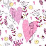 Pattern with love Stock Photo