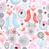 Pattern love birds Royalty Free Stock Images