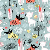 Pattern of love dogs Stock Image