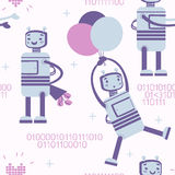 Pattern with love robot Stock Image
