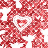 Pattern with love silhouette elements Royalty Free Stock Photos
