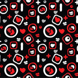 Pattern with love symbols Royalty Free Stock Images