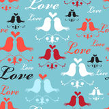 Pattern of lovers birds Royalty Free Stock Photography