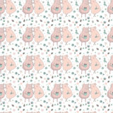 Pattern with lovers pigs, birds, butterflies, flowers and hearts. Cute endless pattern with lovers pigs. Couple of pigs. Romantic seamless pattern. Trendy Royalty Free Stock Image