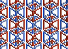A pattern made of absurdly joined cubes - inspired Royalty Free Stock Image