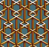 Pattern made of absurdly joined wire cubes. Stock Photos