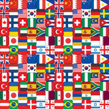 Pattern made of flag icons Royalty Free Stock Photography