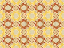Pattern made of gears Royalty Free Stock Image